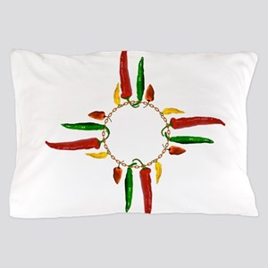 Chile pepper zia symbol Pillow Case