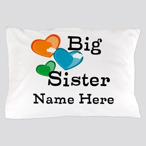 Big Sister Cute Hearts Pillow Case