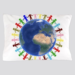 One Earth - One People Pillow Case