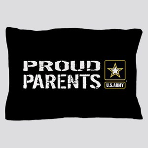 U.S. Army: Proud Parents (Black) Pillow Case