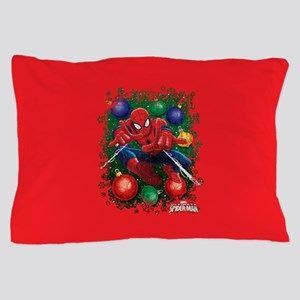 Holiday Spider-Man Ornaments Pillow Case