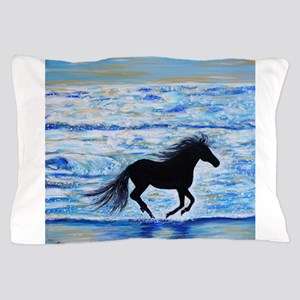 Running Free by the Sea 2 Pillow Case