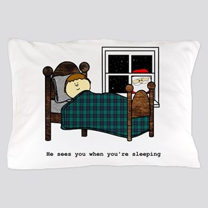 Creeping Santa Pillow Case