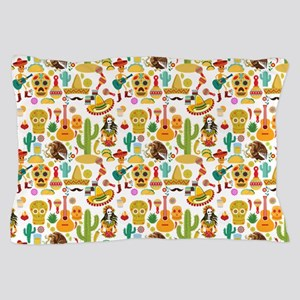 Fiesta Time! Mexican Icons Pillow Case