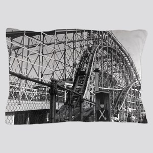 Coney Island Cyclone Roller Coaster 18 Pillow Case
