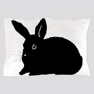 Bunny Silhouette Pillow Case