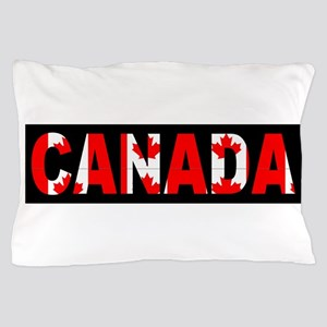 Canada-Black Pillow Case