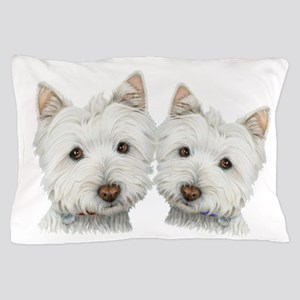 Two Cute West Highland White Dogs Pillow Case