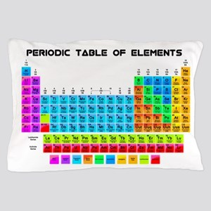 Periodic Table of Elements in Neon Pillow Case