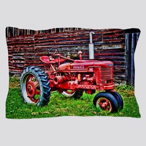 Red Tractor HDR Style Pillow Case