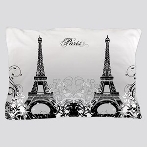 Eiffel Tower Paris (b/w) Pillow Case