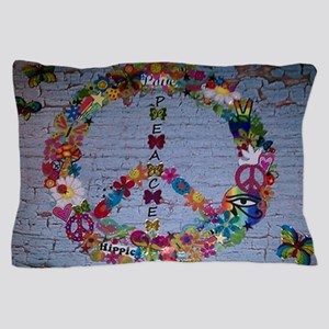 Girly Peace Sign Pillow Case