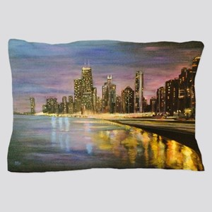 Chicago by Night Pillow Case