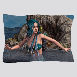 Blue Mermaid Pillow Case