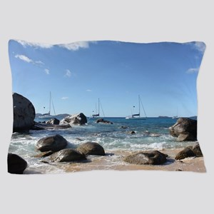 BVI Sailing Boats Pillow Case