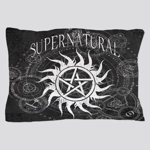 Supernatural Black Pillow Case