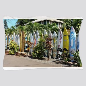 Surf board fence on Maui Pillow Case