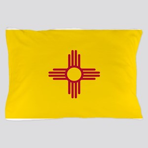 New Mexico Flag Yellow Pillow Case