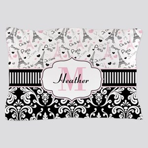 Paris Pink Pillow Case