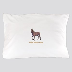 Personalized Horse Pillow Case