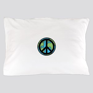 Peace on Earth in Black Pillow Case