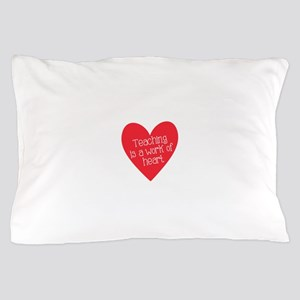 Red Teacher Heart Pillow Case