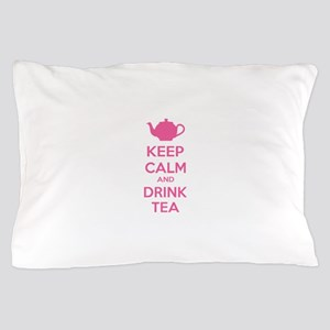 Keep calm and drink tea Pillow Case