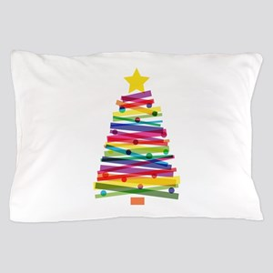 Colorful Christmas Tree Pillow Case