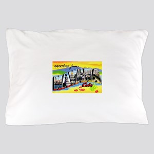 Havana Cuba Greetings Pillow Case