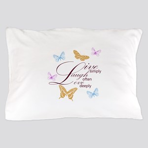 Live, Laugh, Love Simply Butterflies Pillow Case