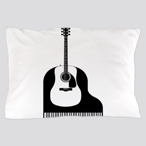 Piano and Guitar Pillow Case
