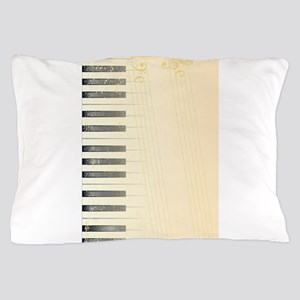 Antique Piano Background Pillow Case