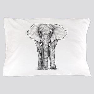 Elephant Drawing Pillow Case