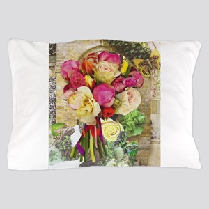 Vibrant Peonies and Roses Pillow Case