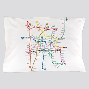Dc Subway Map Pillow.Washington Dc Metro Subway Map Bed Bath Cafepress