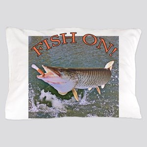 Fish on musky Pillow Case