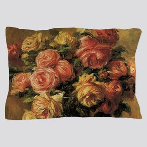 Roses in a Vase by Renoir Pillow Case