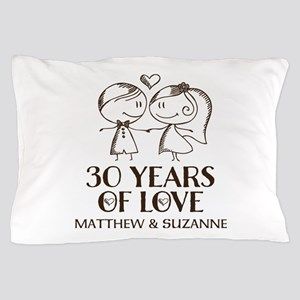 30th Wedding Anniversary Personalized Pillow Case