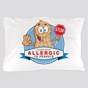 Allergic to Peanuts Pillow Case