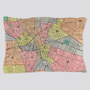 Vintage Map of Rochester NY (1901) Pillow Case