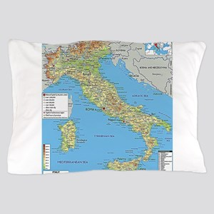 Map of Italy Pillow Case