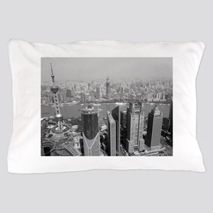 Shanghai China Skyline Pillow Case