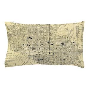 Dc Subway Map Pillow.Vintage Map Of Washington D C 1909 Pillow Case