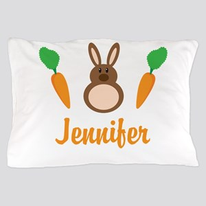 Easter Bunny Personalized Holiday Pillow Case