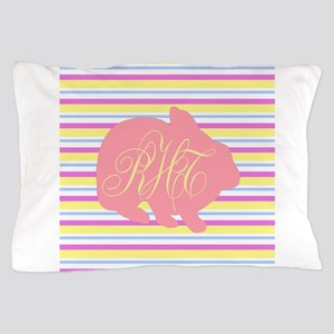 Personalizable Monogram Bunny Pillow Case