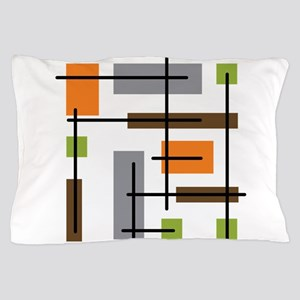 Cubicle Atomic Era Art Pillow Case