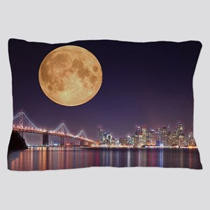 San Francisco Full Moon Pillow Case