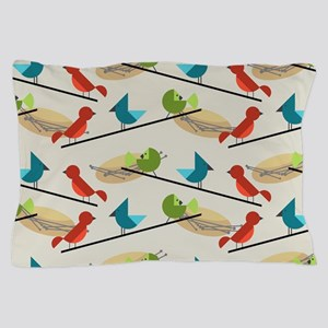 Mid Century Birds Pillow Case