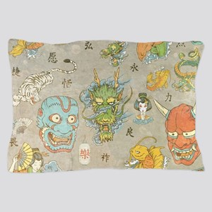 Japanese Collage Pillow Case