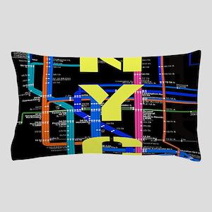 Dc Subway Map Pillow.Subway Bed Bath Cafepress